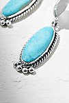 Thumbnail View 3: Sterling Turquoise Drop Earrings
