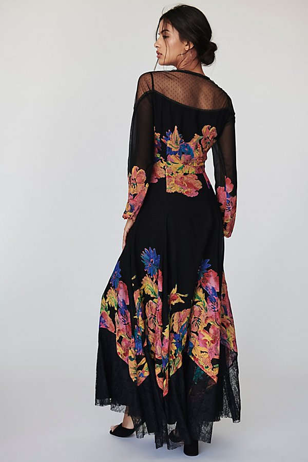 Slide View 2: Bold Blooms Maxi Dress