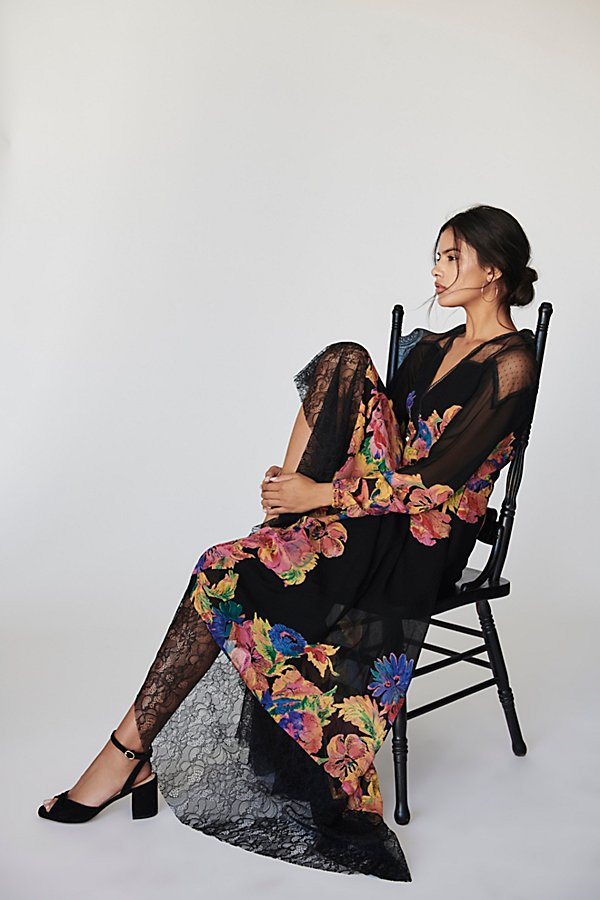 Slide View 4: Bold Blooms Maxi Dress