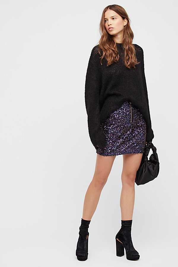 Slide View 4: Sequin Mini Skirt