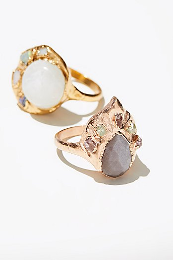 Seven Wonders Raw Stone Ring