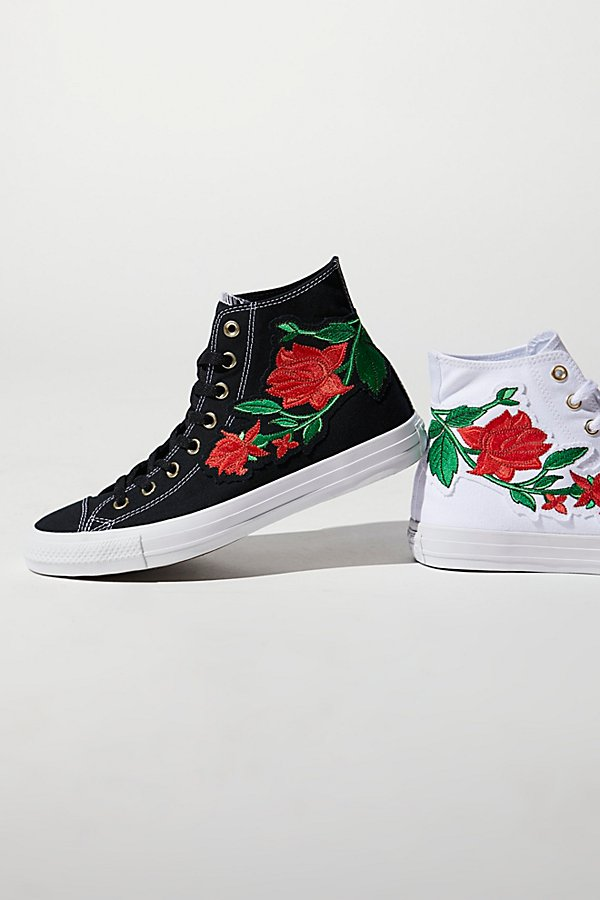 Slide View 1: Embroidered Rose Hi Top Sneaker