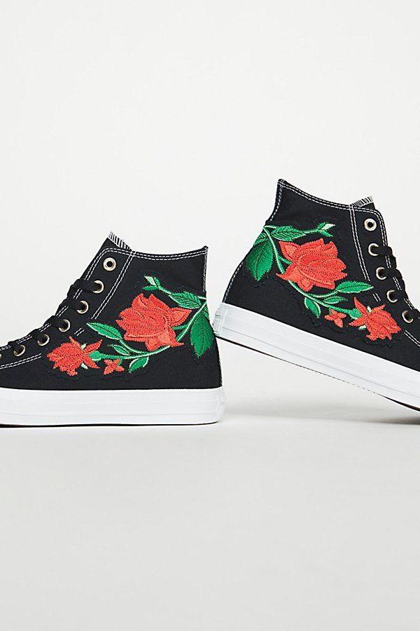 Slide View 4: Embroidered Rose Hi Top Sneaker