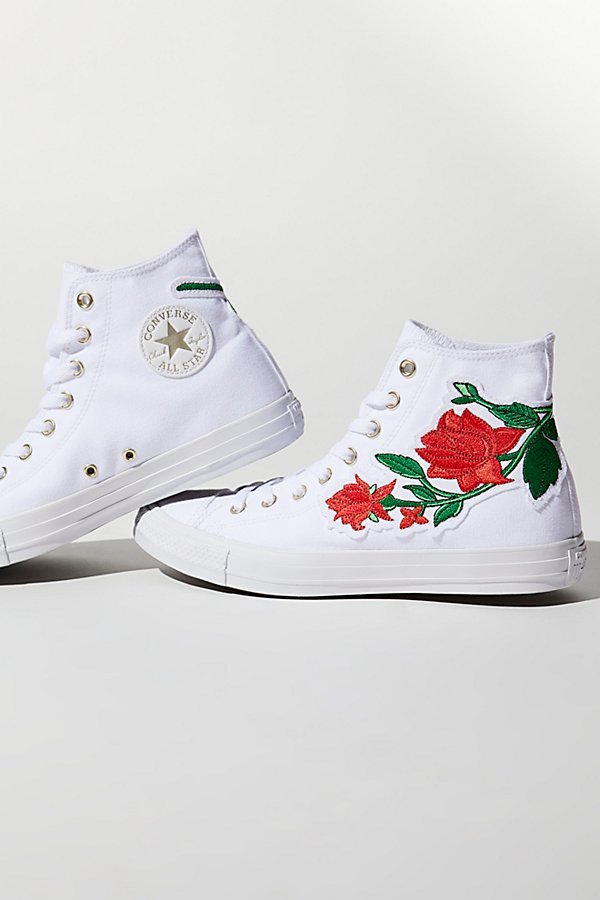Slide View 1: Embroidered Rose Hi Top Trainer