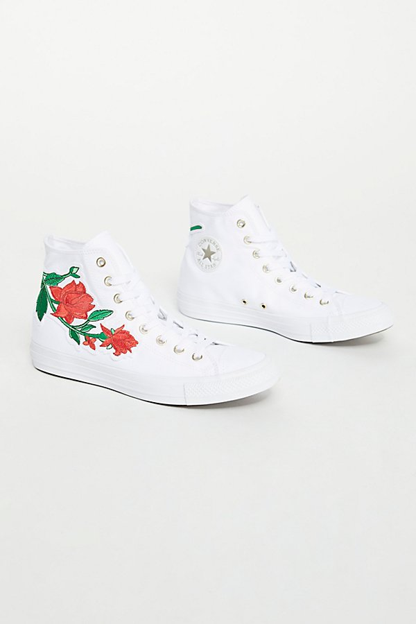 Slide View 2: Embroidered Rose Hi Top Trainer