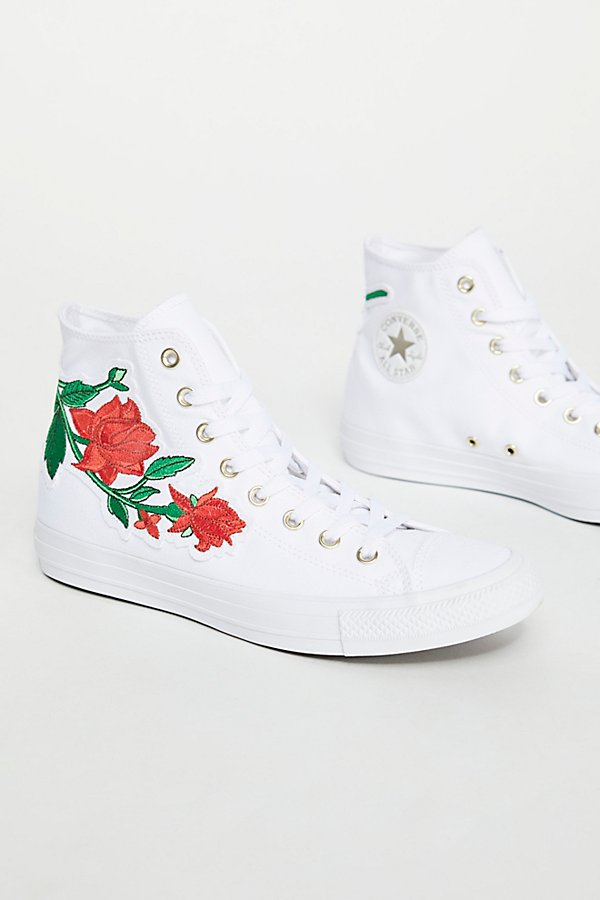 Slide View 3: Embroidered Rose Hi Top Sneaker