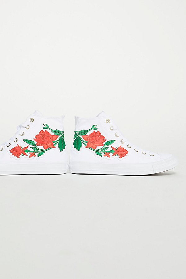 Slide View 4: Embroidered Rose Hi Top Trainer