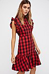 Thumbnail View 1: Plaid Drop Waist Dress
