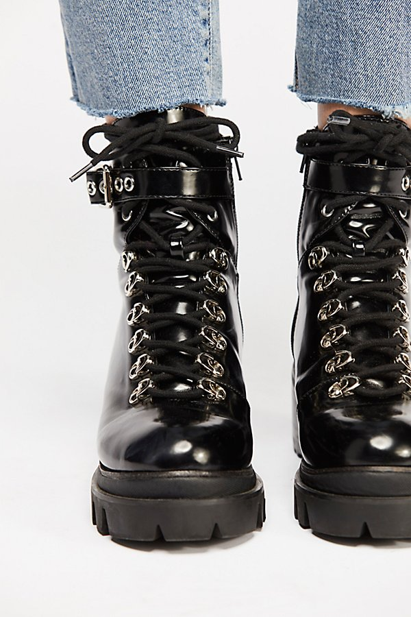 Slide View 4: Check Lace-Up Boot