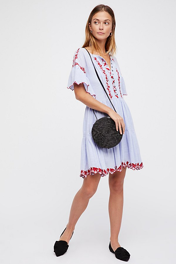Slide View 3: Santiago Embroidered Mini Dress