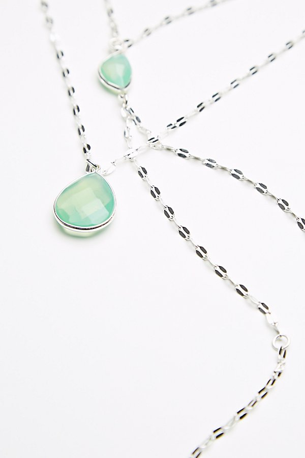 Slide View 3: Shimmer Chain Stone Necklace