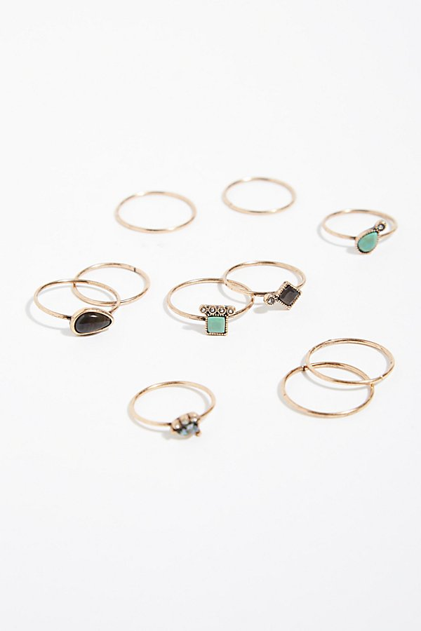Slide View 2: Delicate Opal Ring Set of 10