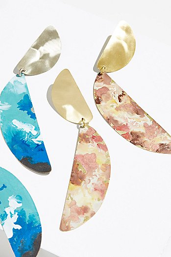 Marble Patina Statement Earrings
