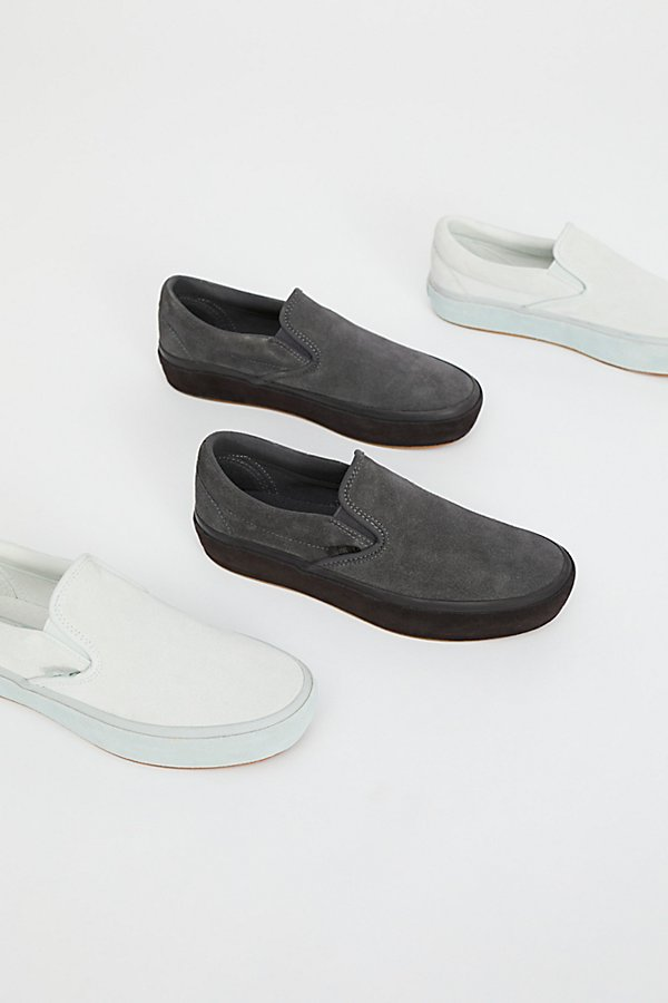 Slide View 1: Classic Slip-On Suede Platform Trainer