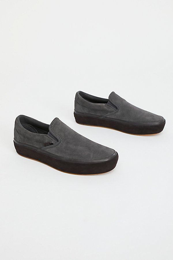 Slide View 2: Classic Slip-On Suede Platform Trainer