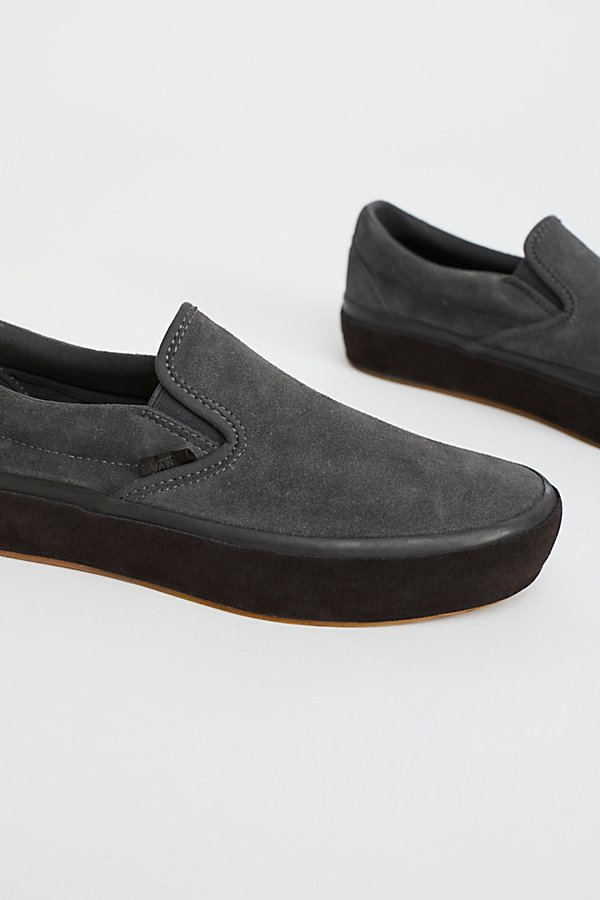 Slide View 3: Classic Slip-On Suede Platform Trainer