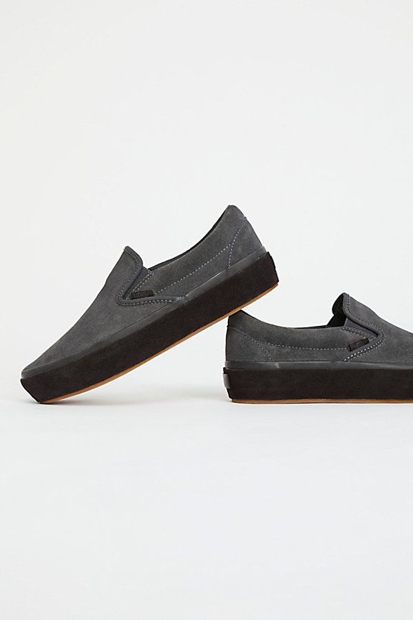 Slide View 4: Classic Slip-On Suede Platform Trainer