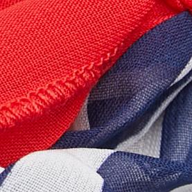 海军蓝条纹 / 红色