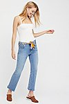Thumbnail View 1: Belt Out Crop Bootcut Jeans