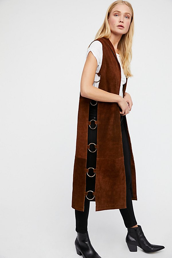 Slide View 1: Ring Suede Vest