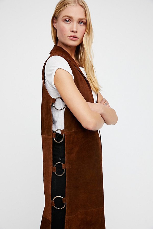 Slide View 3: Ring Suede Vest