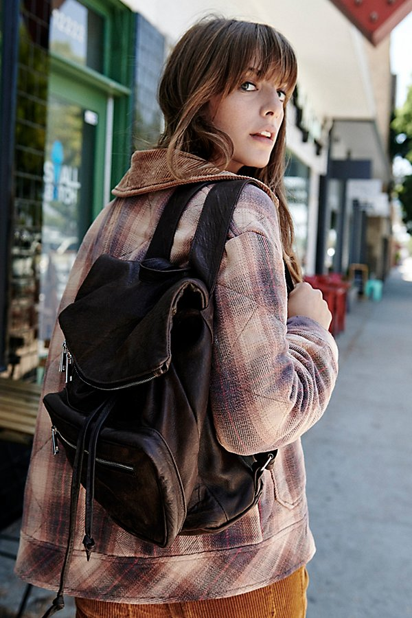 Slide View 1: Bow Leather Backpack