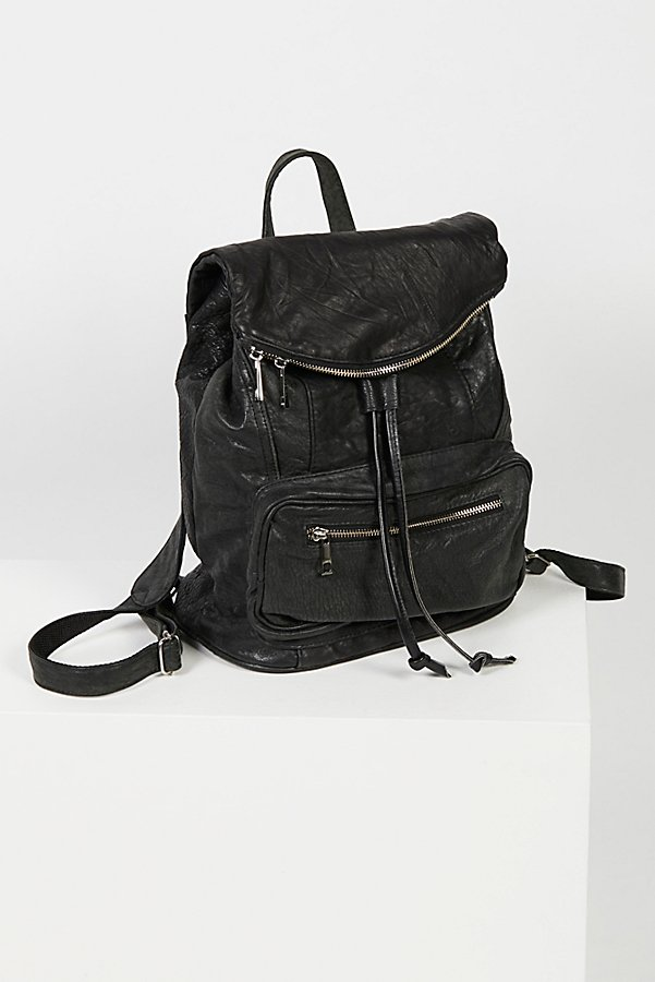 Slide View 3: Bow Leather Backpack