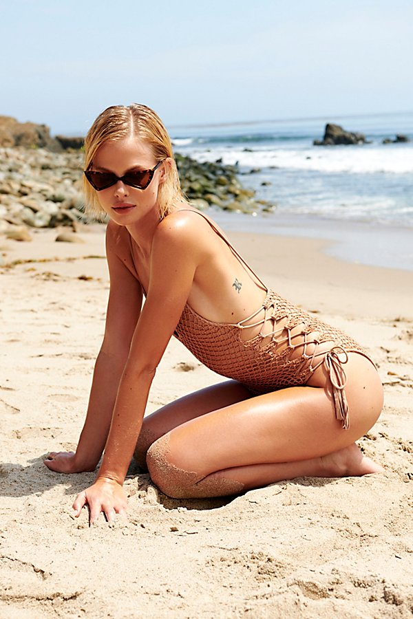 Slide View 4: Crochet Florence One-Piece Swimsuit