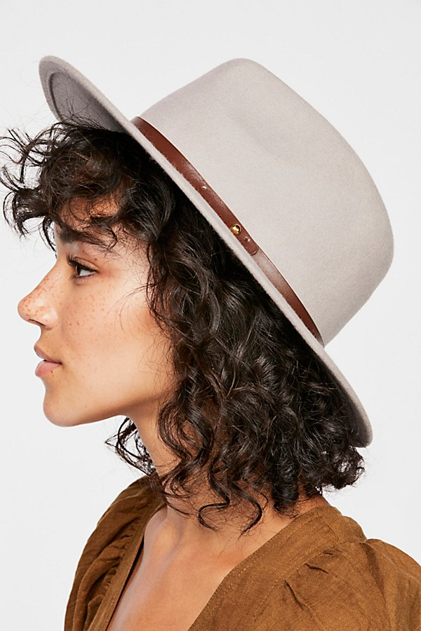 Slide View 3: Wythe Leather Band Felt Hat