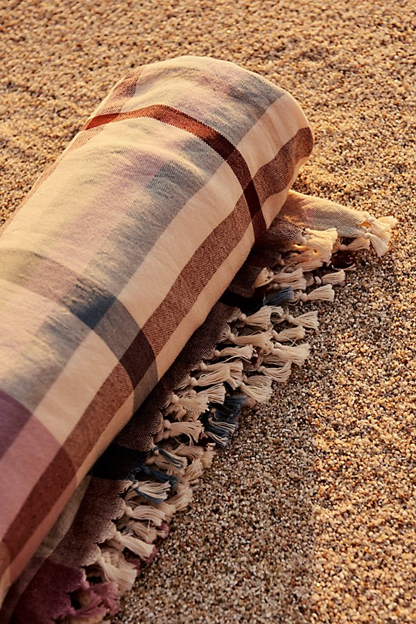 Slide View 1: Check Me Out Hand Loomed Beach Towel