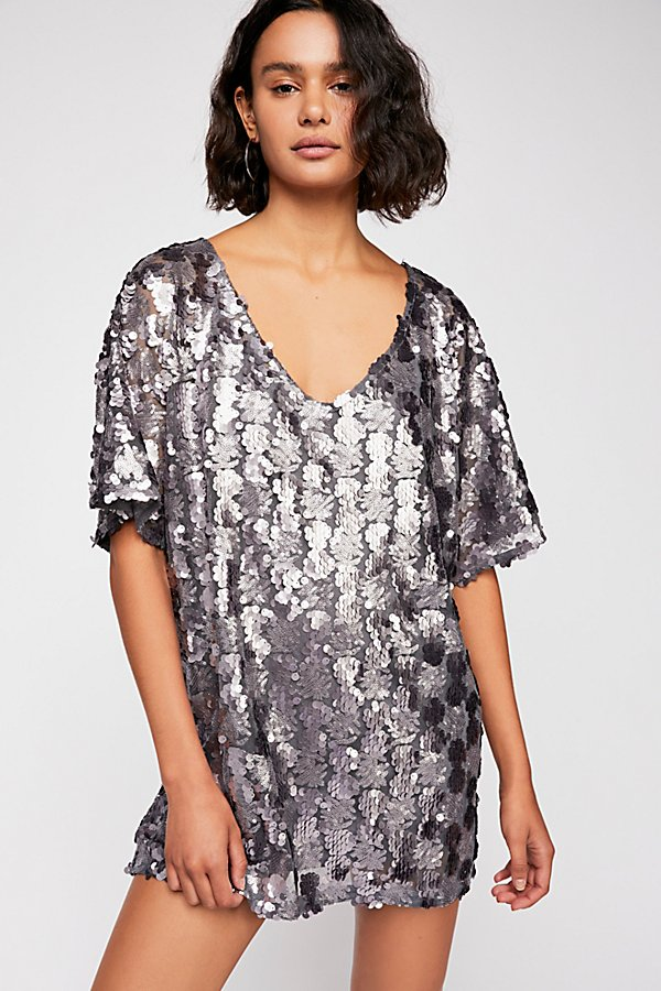 Slide View 2: Sequin T-Shirt Mini Dress