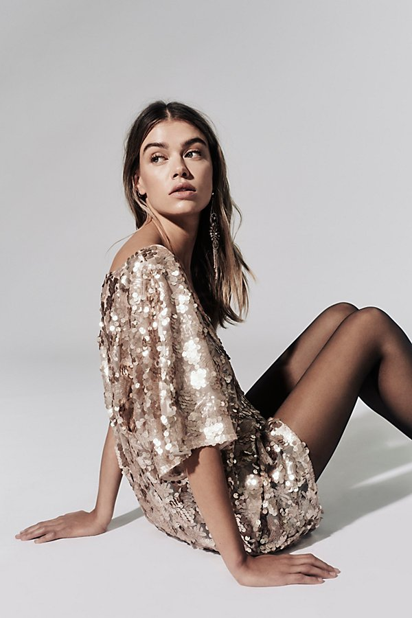 Slide View 1: Sequin T-Shirt Dress