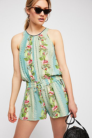 Poolside Printed Shortall