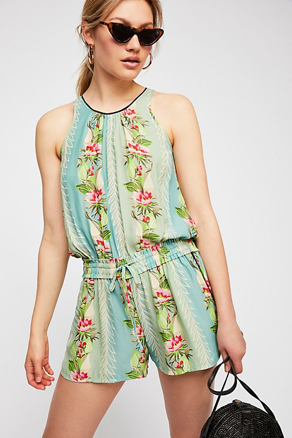 Tropical Printed Shortall