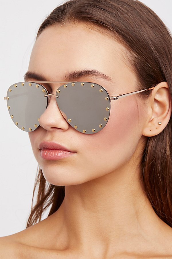 Slide View 1: Star Struck Studded Aviator Sunglasses