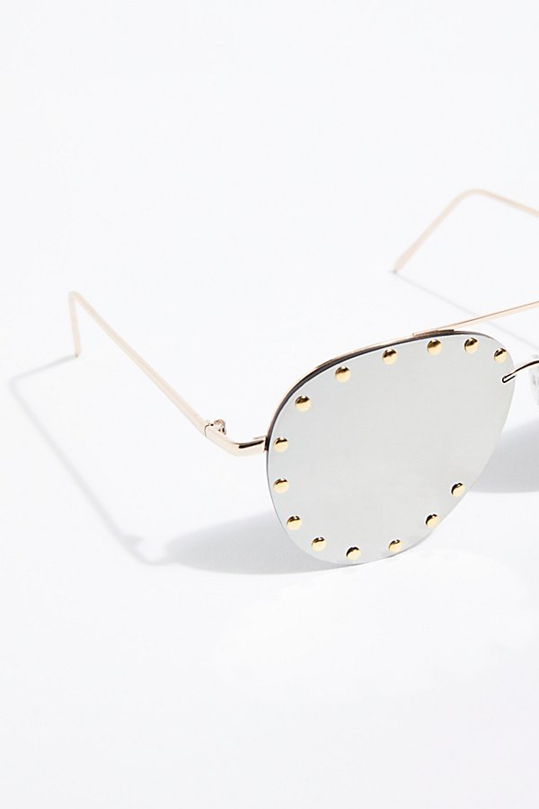 Slide View 3: Star Struck Studded Aviator Sunglasses