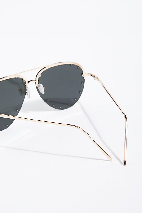 Slide View 4: Star Struck Studded Aviator Sunglasses