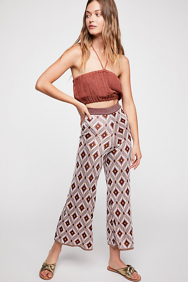 Slide View 1: Knitted Jacquard Pants