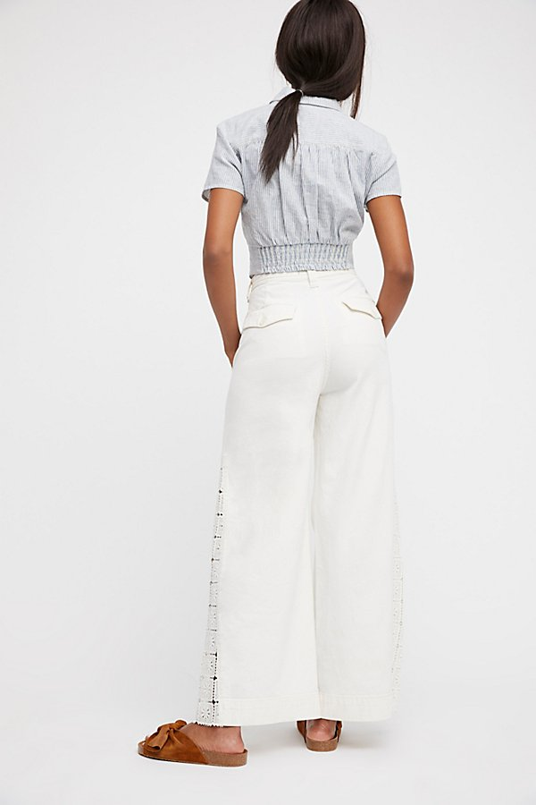 Slide View 3: Lacey High Rise Wide Leg Pants