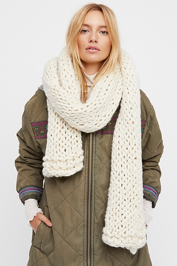 Hold Me Close Handknit Winter Scarf by Loopy Mango at Free People
