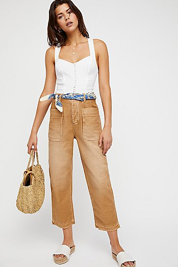 Rising Water Straight Crop Trousers