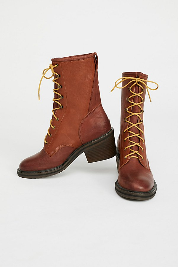 Slide View 1: Steel Lace-Up Boot