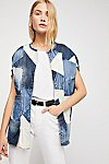 Thumbnail View 1: Piece Of Me Patchwork Denim Poncho