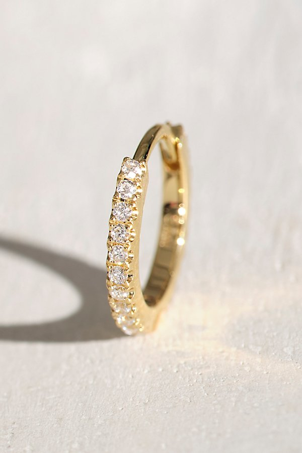 Slide View 1: 8mm Diamond Eternity Hoop Earring