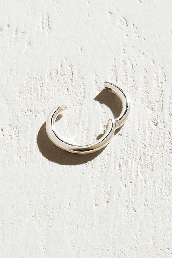 Slide View 2: 6.5mm Solid Gold Clicker Hoops