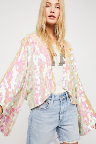 Aquarius Sequin Jacket by Free People