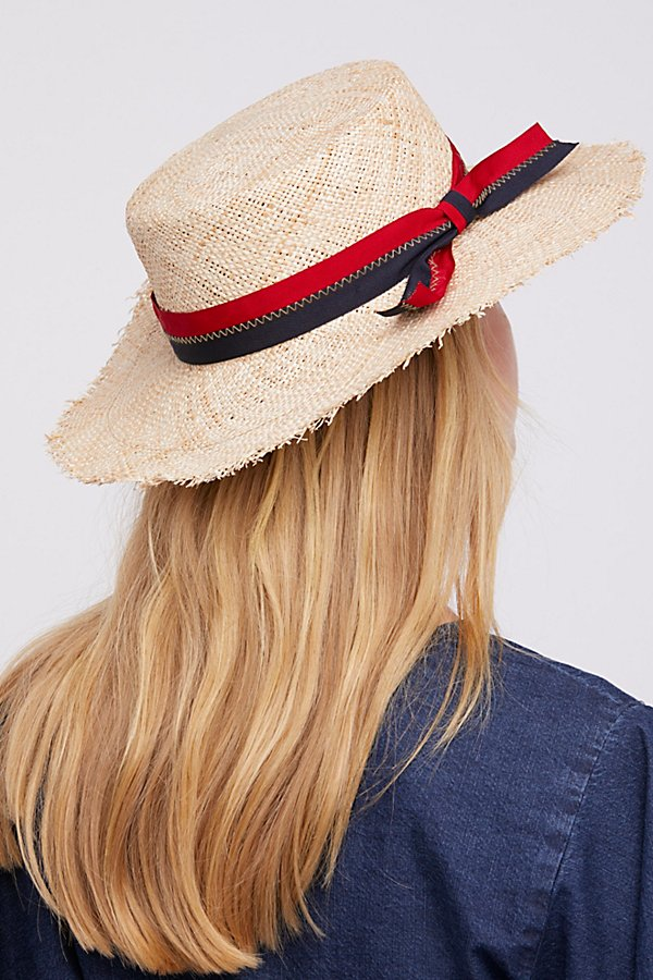 Slide View 2: Lucky Stripe Straw Boater