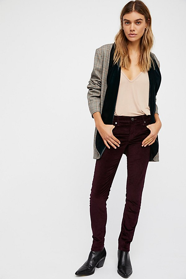 Velvet Mid-Rise Skinnies by Blank NYC at Free People