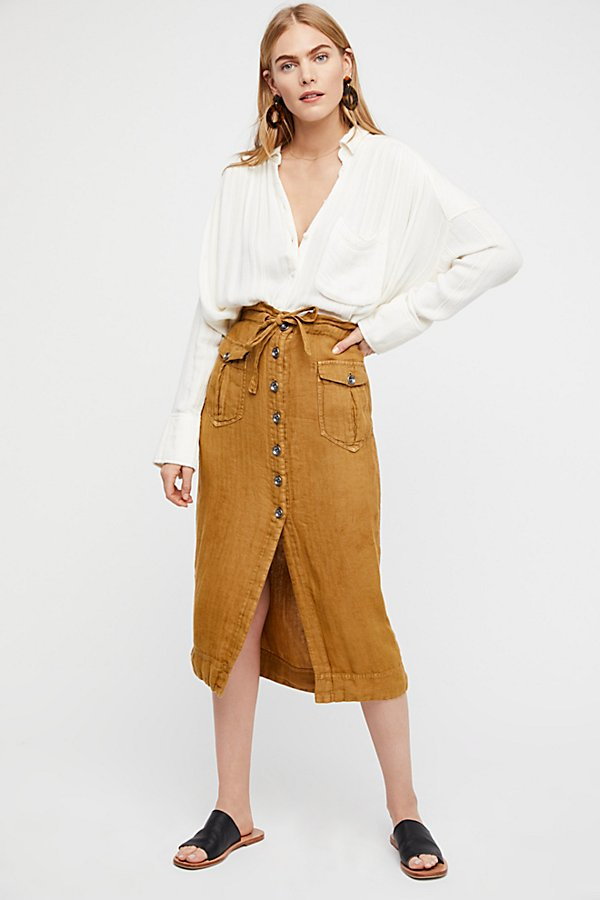 Slide View 1: Straight To The Point Midi Skirt