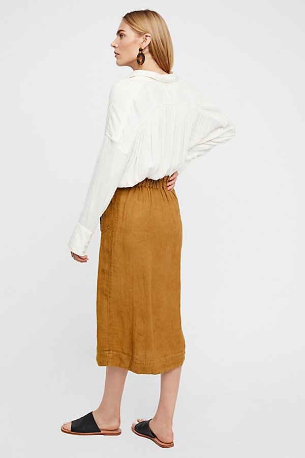Slide View 2: Straight To The Point Midi Skirt